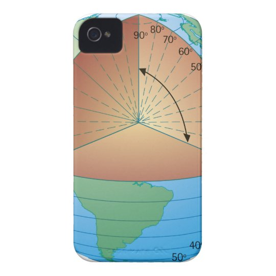 Digital cross section illustration of showing iPhone 4 case