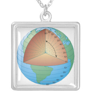 Digital cross section illustration of showing necklaces