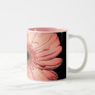 Digital Daisy Two-Tone Coffee Mug