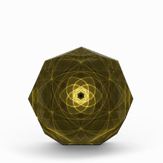 DIGITAL DAISY YELLOW FLOWER ABSTRACT RANDOM ART BL ACRYLIC AWARD