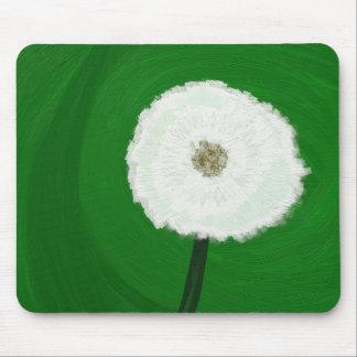 Digital Dandelion Oil Painting Mouse Pad