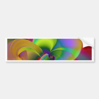 Digital de la orquídea creado por Tutti Pegatina Para Auto