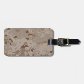 Digital Desert Camouflage Bag Tag