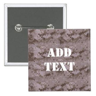 Digital Desert Camouflage Button