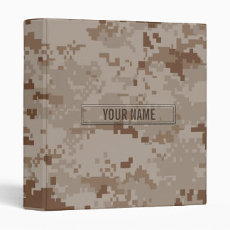 Digital Desert Camouflage Customizable 3 Ring Binder