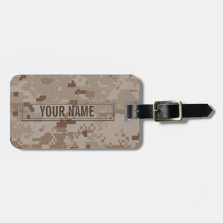 Digital Desert Camouflage Customizable Bag Tag