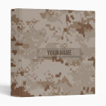 Digital Desert Camouflage Customizable Vinyl Binder
