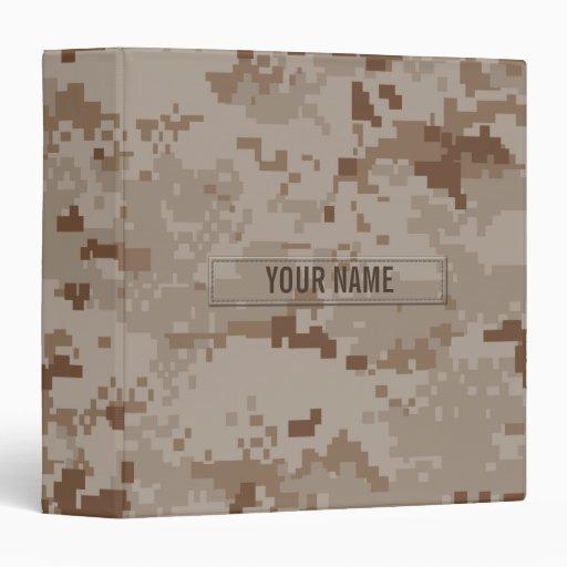 Digital Desert Camouflage (Customizable) Binder