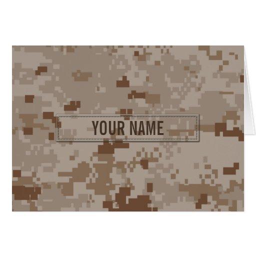 Digital Desert Camouflage (Customizable) Greeting Card