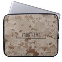Digital Desert Camouflage Customizable Computer Sleeve