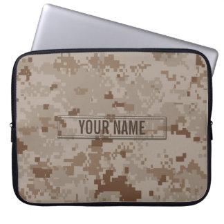 Digital Desert Camouflage Customizable Laptop Sleeve