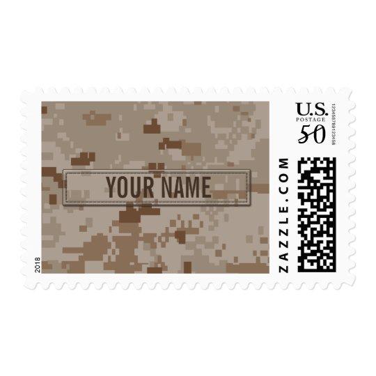 Digital Desert Camouflage Customizable Postage