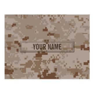 Digital Desert Camouflage Customizable Postcard