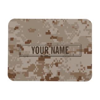 Digital Desert Camouflage Customizable Magnets