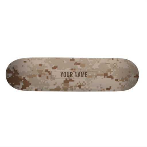 Digital Desert Camouflage (Customizable) Skate Board