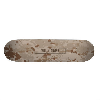 Digital Desert Camouflage Customizable Skateboard Deck