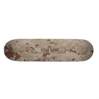 Digital Desert Camouflage Customizable Skateboard Deck