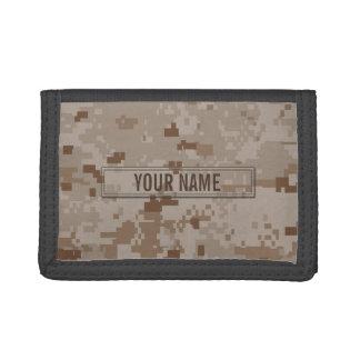 Digital Desert Camouflage Customizable Tri-fold Wallets