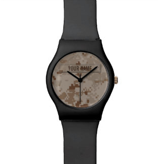 Digital Desert Camouflage Customizable Watch