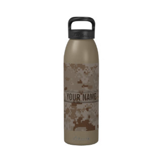 Digital Desert Camouflage Customizable Drinking Bottles