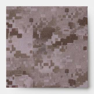 Digital Desert Camouflage Envelope
