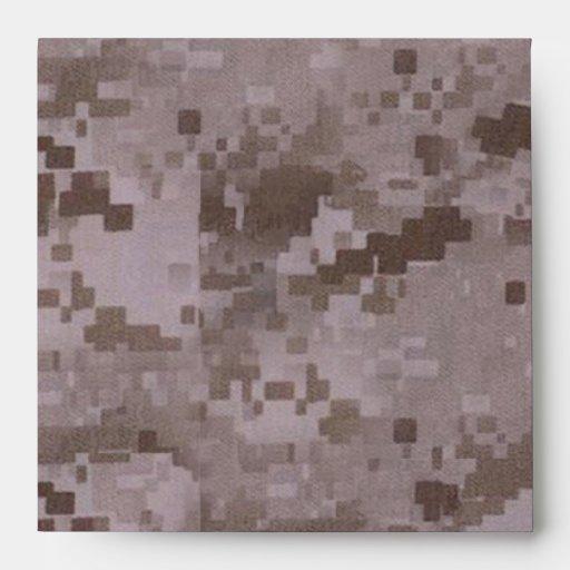 Digital Desert Camouflage Envelopes