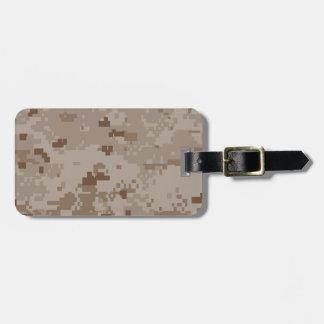 Digital Desert Camouflage Bag Tag