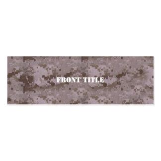 Digital Desert Camouflage Mini Business Card