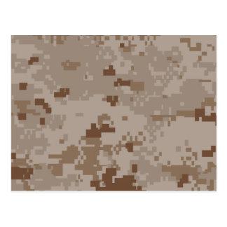 Digital Desert Camouflage Postcard