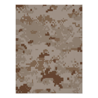 Digital Desert Camouflage Posters