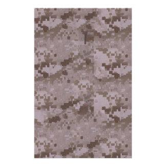 Digital Desert Camouflage Stationery