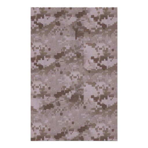 Digital Desert Camouflage Stationery Design