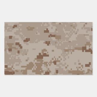 Digital Desert Camouflage Rectangular Sticker