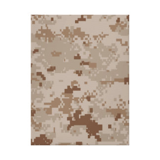 Digital Desert Camouflage Stretched Canvas Prints