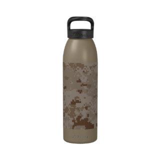 Digital Desert Camouflage Reusable Water Bottle