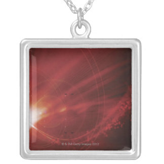 Digital Design 2 Silver Plated Necklace