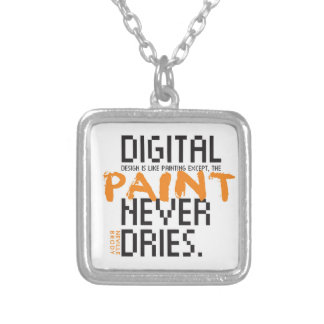 Digital Design Never Dries neckless Silver Plated Necklace