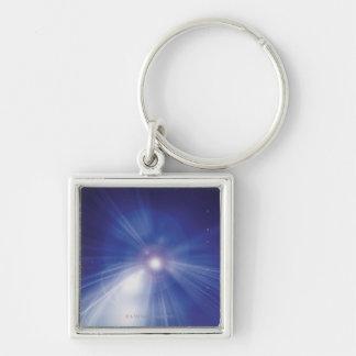 Digital Design Shining Star Keychain