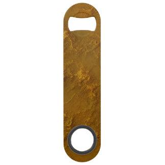 Digital Dirty Gold Rock Relief Texture Speed Bottle Opener