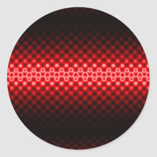 Digital Dots Classic Round Sticker