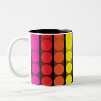 Digital Dots Two-Tone Coffee Mug