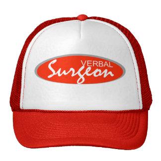 "digital DzynR's ""VERBAL SURGEON"" Mesh Ball Cap Trucker Hat"