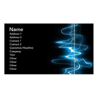 DIGITAL ELECTRIC CURRENT SWIRLS ABSTRACT TIMELINE Double-Sided STANDARD BUSINESS CARDS (Pack OF 100)