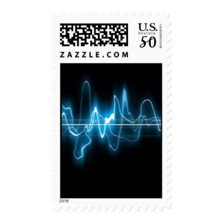 DIGITAL ELECTRIC CURRENT SWIRLS ABSTRACT TIMELINE POSTAGE