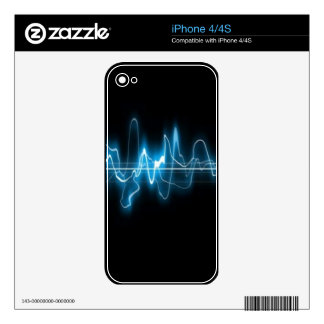 DIGITAL ELECTRIC CURRENT SWIRLS ABSTRACT TIMELINE DECALS FOR THE iPhone 4
