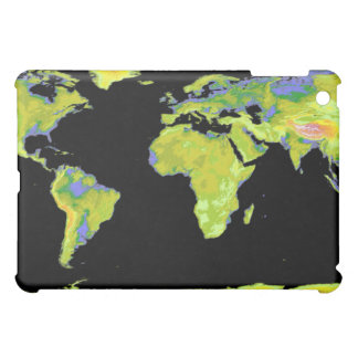 Digital elevation model of the continents on Ea iPad Mini Cover