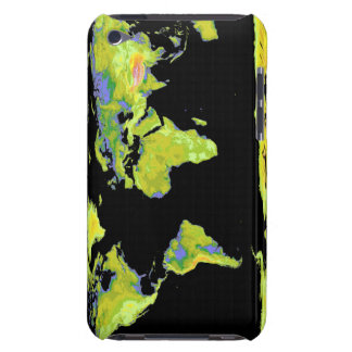 Digital elevation model of the continents on Ea iPod Case-Mate Case