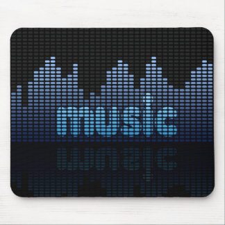 Digital Equalizer Music Wall - Mousepad