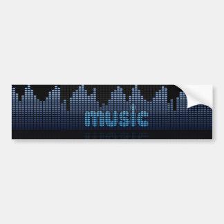 Digital Equalizer Music Wave Wall - Bumper Sticker