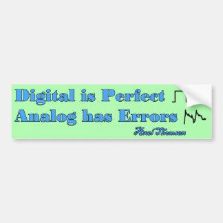 Digital es perfecta pegatina para auto